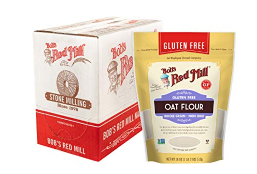 Bob's Red Mill Gluten Free Oat Flour, 18 Oz (Pack Of 4)