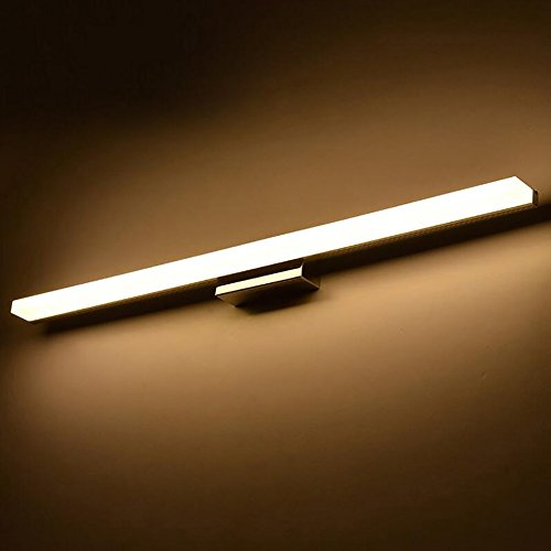 WWWANG Simple LED Espejo Moderno de Acero Inoxidable a Prueba de Agua de acrílico del Espejo del Espejo del Cuarto de baño Luz Almacenamiento pequeño, práctico y portátil