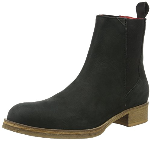 Liebeskind Berlin Damen LS0120 grain Chelsea Boots, Schwarz (ninja black 9998), 38 EU
