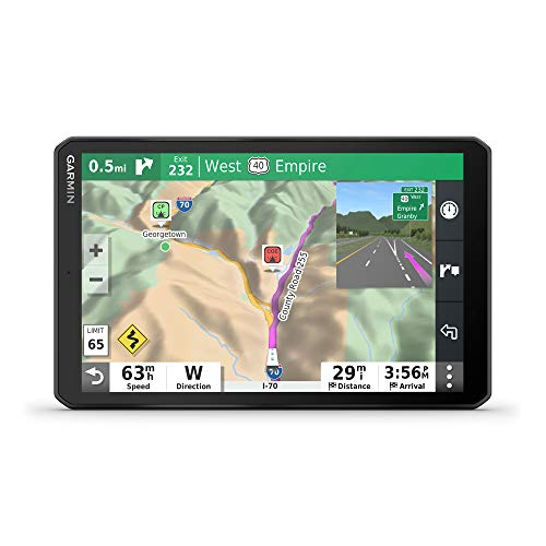 "Garmin RV 890, GPS Navigator for RVs with Edge-to-Edge 8"" Display, Preloaded Campgrounds, Custom Routing and More"