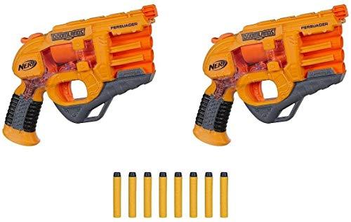 NERF DOOMLANDS 2169 Persuader Blaster 2 Pack con 8 dardos Elite
