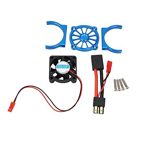 wivarra Ventilador de RefrigeracióN del Motor de Piezas de AutomóVil de Control Remoto para 1/10 e REVO 2.0 RC Piezas de AutomóVil Accesorios Multicolores, Azul