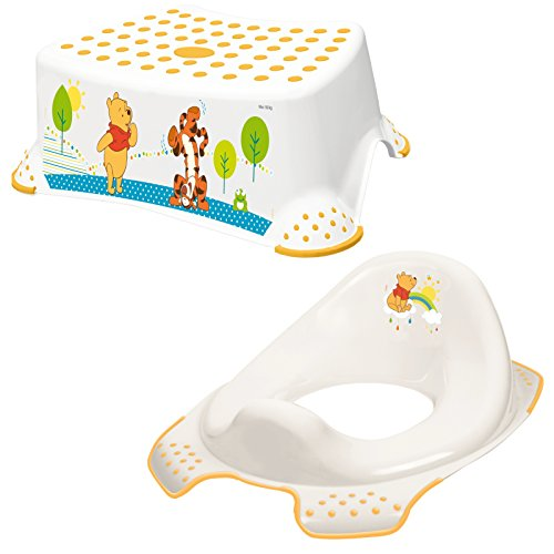Keeeper 2-teiliges Set WINNIE Schemel einstufig & WC-Sitz/Toilettensitz weiß