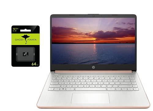 2021 Newest HP 14' Ultra Light Laptop, Intel N4020 Processor(Up to 2.8GHz), 8GB RAM, 128GB Storage(64GB eMMC+64GB Micro SD), 1 Year Office 365, Webcam, HDMI, WiFi, USB-A&C, (Google Classroom or Zoom)