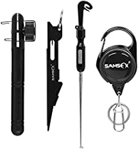SAMSFX Fishing Knot Tying Tool, Quick Loop Tyer, Hook Remover, Hair Rig Tying Tool and Zinger Retractors