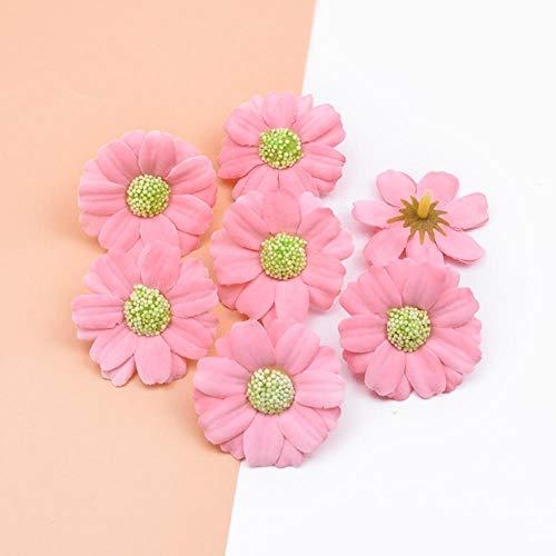 50 stuks scrapbooking decoratieve bloemen muur zijde daisy diy geschenken bonbondoos bruiloft home decor accessoires kunstbloemen, kleur 3