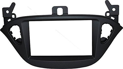 Mascherina autoradio 2 DIN Kit installazione DOPPIO DIN completo di staffe per il montaggio, Colore mascherina: SOFT BLACK