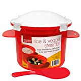 Rapid Rice & Veggie Steamer | Microwave Fresh & Frozen Vegetables in Less Than 5 Minutes | Perfect for Dorm, Small Kitchen, or Office | Dishwasher-Safe, Microwaveable, & BPA-Free