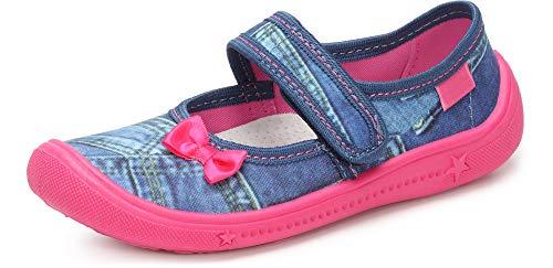Ladeheid Zapatillas con Cierre Abrojo Calzado Niña LAVI0004 (Jeans Rosa, 31 EU)