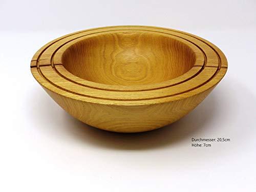 Holzschale rund aus Robinien Holz ∅ ca. 20,5 cm - H: ca. 7 cm handgemacht gedrechselt Schale Obstschale