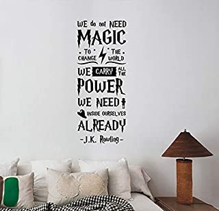We Do Not Need Magic Inspirational Quote Wall Decal Vinyl Lettering Art Fantasy Movie Sticker Decorations for Home Living Room Bedroom Office Decor Ideas hpq3