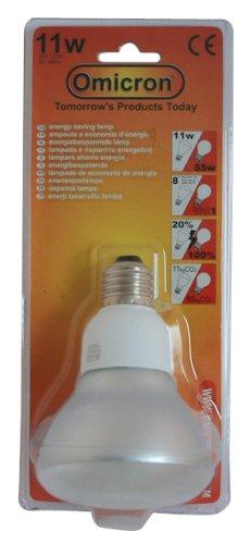 Omicron 80 mm 7 W Spot fluocompacte Culot à vis Edison