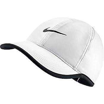 NIKE Women s AeroBill Featherlight Tennis Cap White/Black/Black One Size