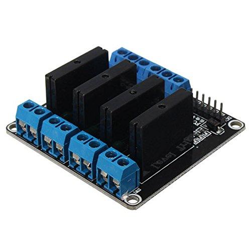 ILS - 5V 4 Canales RSS de G3MB-202P relé de Estado sólido de Alto Nivel del módulo de activación para Arduino