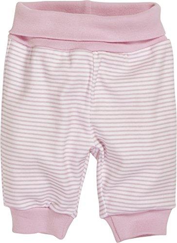 Schnizler - Cotton Striped Tracksuit Bottoms - pantalons mixte bébé, Rose (White/Light-Pink), Newborn (Taille fabricant:50)