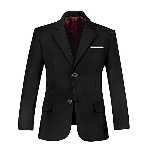 Plsily Black Blazer School Suits Coat Suit Baby Boy Clothes Dress Blazers Size 8