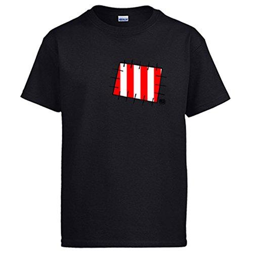 Diver Camisetas Camiseta Atleti Parche Colchonero ilustrado por Jorge Crespo Cano - Negro, L