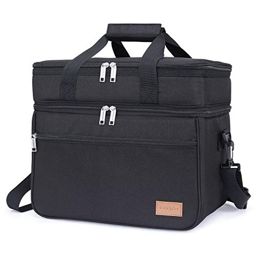 Lifewit 23L (30-Can) Double Decker Soft Cooler Bag with Hard Liner
