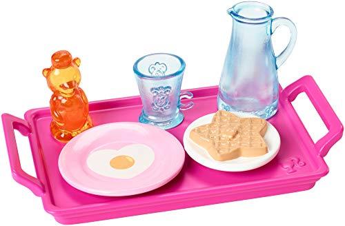 Barbie Set Desayuno - Accesorios Cocina Mattel FXG28 | Objetos de Decoración