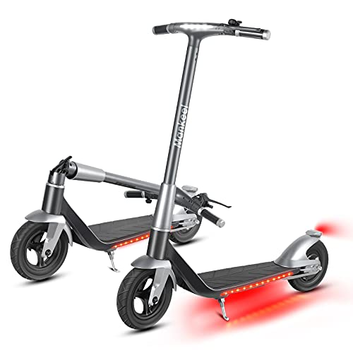 Mankeel Electric Scooter, 500W Motor 10-inch Rubber Air Filled Tires, Max Speed 17 MPH, Max 22 Miles Range, Foldable Adult Electric Scooter, Suitable for Adults for Commuting and Outdoor Travel