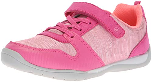 Stride Rite Girls' Avery Sneaker, Pink, 12 W US Little Kid