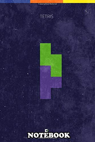 Notebook: Tetris Minimal Videogame Poster , Journal for Writing, College Ruled Size 6' x 9', 110 Pages