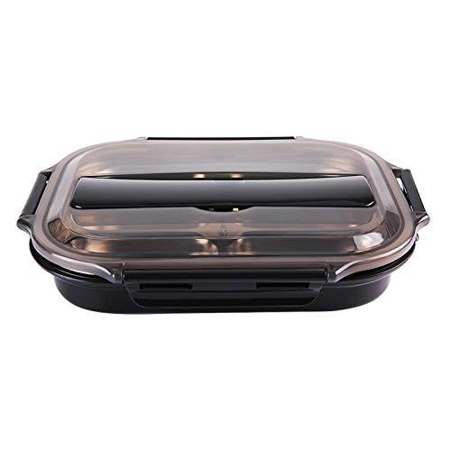 Fiambrera, caja bento japonesa de 600 ml, 4 rejillas, caja bento japonesa, fiambrera de acero inoxidable, caja bento japonesa, contenedor de comida para niños adultos