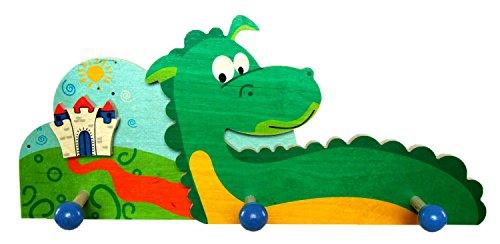Hess houten speelgoed 30340 - garderobe draak van hout, 35 cm