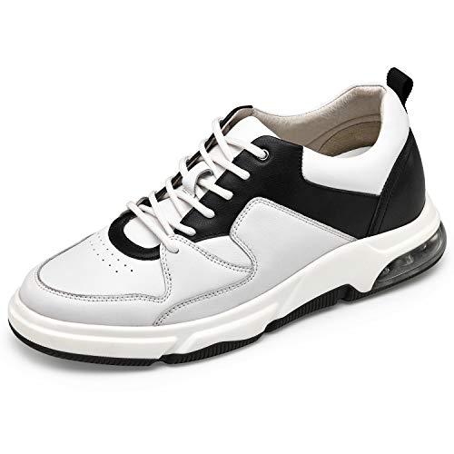 [Chamaripa] シークレットシューズ メンズ スニーカー スポーツシューズ 運動靴 本革 カジュアル 背が高くなる靴 人気 レースアップ 身長6cmアップ H01DT49B022 27.5cm
