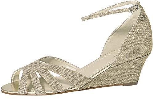 Rainbow Club Zapatos de novia Michelle – Sandalias acolchadas para mujer con...