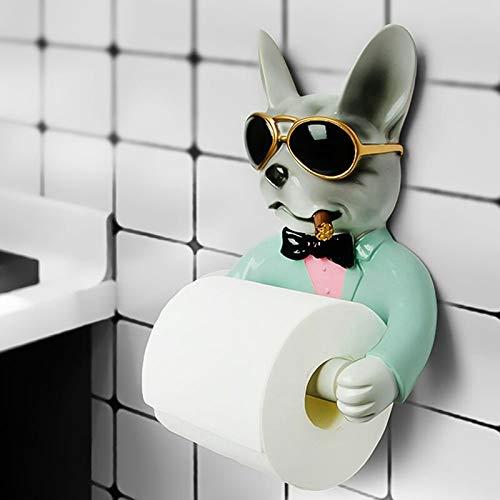 Toilettenpapierhalter Hund Wc Papier Halter Wc Hygiene Harz Tray Kostenloser Punch Hand Tissue Box Haushalts Papier Handtuch Halter Reel Spool Gerät