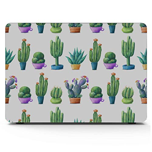 Laptop Cover Prickly Pear Green Plants MacBook 11 Inch Case Hard Shell Mac Air 11'/13' Pro 13'/15'/16' with Notebook Sleeve Bag for MacBook 2008-2020 Version