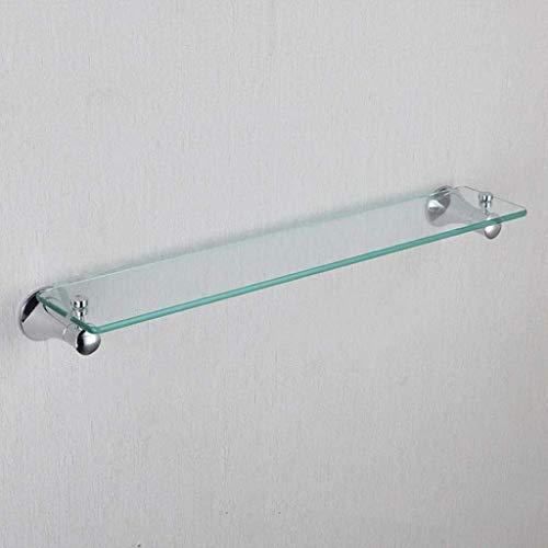 SLINGDA badkamer glazen plank, enkele laag douche Rack, voor gebruik in slaapkamers, badkamers en kasten 23.9''×4.5''