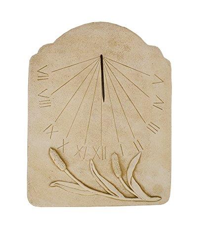 CATART Reloj de Sol en hormigón-Piedra para Pared Exterior Tempus Fugit de 59X38cm.   Reloj de Sol Jardín Vertical de hormigón-Piedra Artificial, Color Marrón