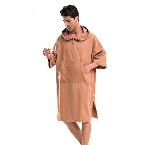Lfives-hm Herren Handtuch Poncho Robe Tauchbademantel schnell trocknender Mantel Coffee Beach Bademantel Winddicht und warm für den Strand, Pool, See, Wasserpark. (Farbe : Bat, Größe : Einheitsgröße)