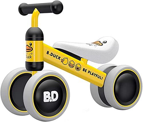 GLOBAL IGO. Baby Balance Bikes Ewigkeiten 1 Indoor Toys für 1 Jahr alte Jungen Mädchen 1. Geburtstagsgeschenk Reiten Spielzeug Kleinkind Bike Baby Walker für 10-24 Monate, Kein Pedal (Gelb)