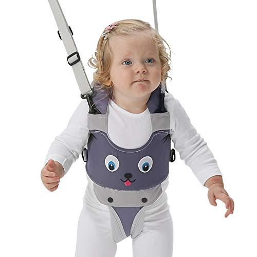LBLA Ajustable Arnés de Seguridad Bebe para Caminar Cinturón de Andador de niño (Gris)