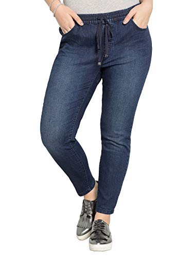 sheego - Jeans da Donna Catfaces Blu Jeans Scuro 54