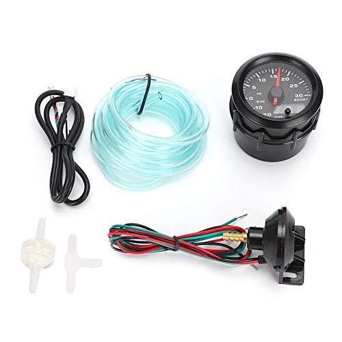 KIMISS LED Turbo Boost Meter, 52mm/2in 7 colores Turbo Boost Meter Conjunto de instrumentos de modificación del automóvil
