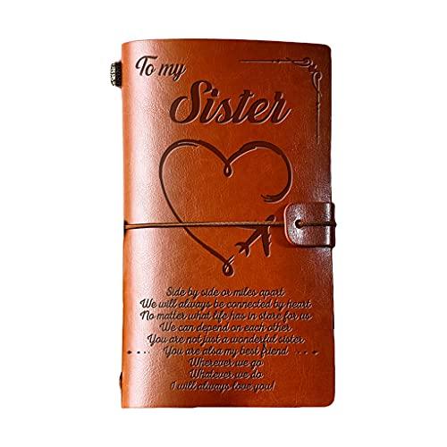 KLG Agenda de cuero, libro de visitas, cuaderno de notas de negocios, papelería de oficina, se puede dar a amigos, familia, 20 x 12 x 2 cm