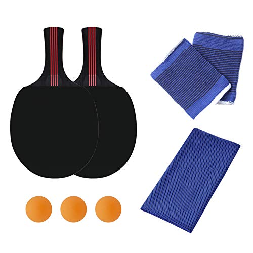 Great Features Of KINDOYO Table Tennis Paddle - 2 Racket 3 Balls for Trainers Amateurs Beginners