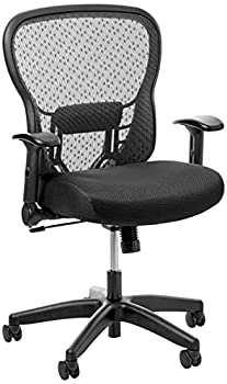 SPACE Seating Deluxe AirGrid Seat and Back 2-to-1 Synchro Tilt Control and Cantilever Arms Managers Chair Latte