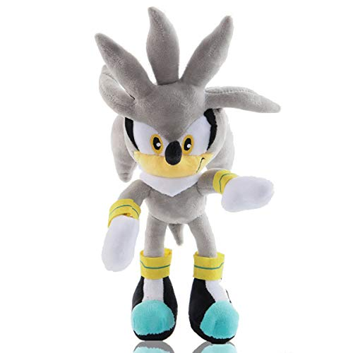 YIRUN Classic Silver The Hedgehog Plush Figure Toys Sonic The Hedgehog Sonic The Hedgehog Cartoon Character Plush Children's Pillow 11in