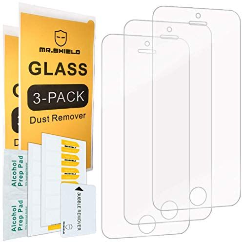 Mr.Shield-[3-PACK] Designed For iPhone SE (2016 Edition ONLY) / iPhone 5/5S / iPhone 5C [Tempered Glass] Screen Protector with Lifetime Replacement