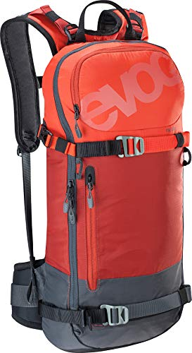 EVOC Sports GmbH FR Day 16l, Protector Rucksack, Chili red-Carbon Grey, S