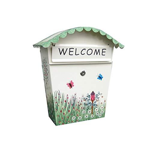 lqgpsx Kindergarten Schule Lieferung Box, Office Supplies dekorativ bemalte Briefkasten, kreative Mailbox Wand Regenwasser Posteingang