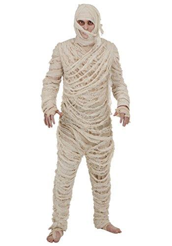 Disfraz de momia para adultos y hombres de mam. - Blanco - X-Small