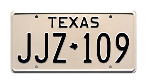 Celebrity Machines Death Proof | Chevy Nova | Texas JJZ 109| Metall Prägung Vanity Prop License Plate