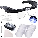 Best Magnifying Glasses - Head Magnifying Glass with Light Rechargeable Headband Magnifier Review