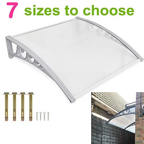 Turefans Überdachung Haustür Vordach Haustürvordach Pultvordach - Diverse Größen
